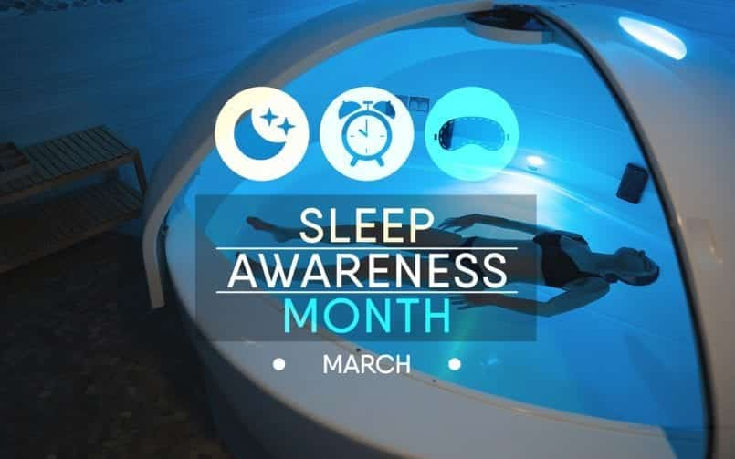floating for sleep awareness month