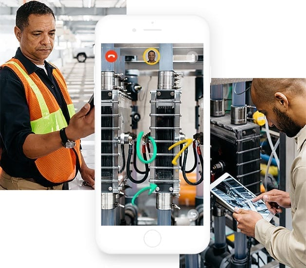 factory workers using AR