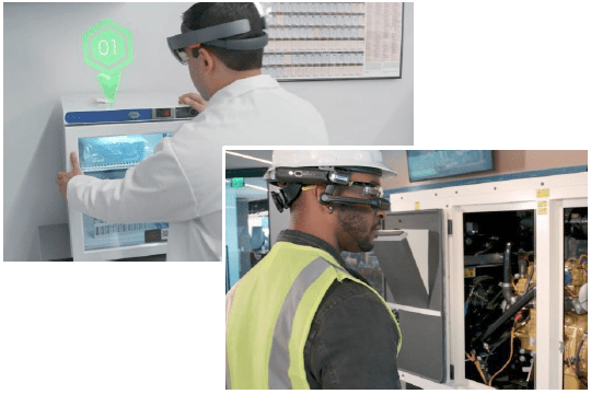 AR in a lab and AR in a factory