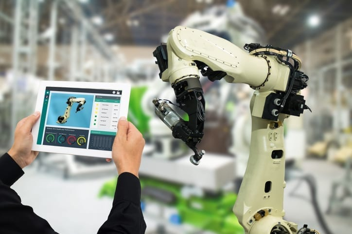 Using an iPad to control a robot arm